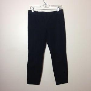 J Crew Minnie Black Pants Ankle Side Zip Sz 4